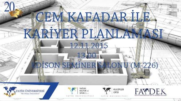Cem Kafadar ile Kariyer Planlaması