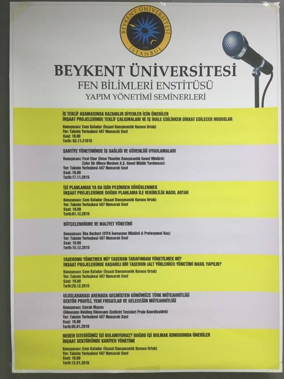Beykent Seminer Programı